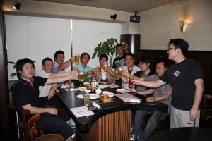 地元小松の方に金沢から駆け付けたメンバーも駆け付け盛大に